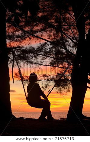 At The Swing During Sunset
