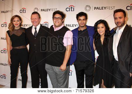LOS ANGELES - SEP 7:  K McPhee, R Patrick, Ari Stidham. Elyes Gabel, Jadyn Wong, Eddie K Thomas at the PaleyFest 2014 Fall TV Preview - CBS at Paley Center on September 7, 2014 in Beverly Hills, CA