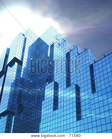Corporate Glass Building