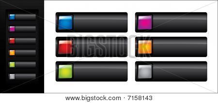 Glossy black web buttons