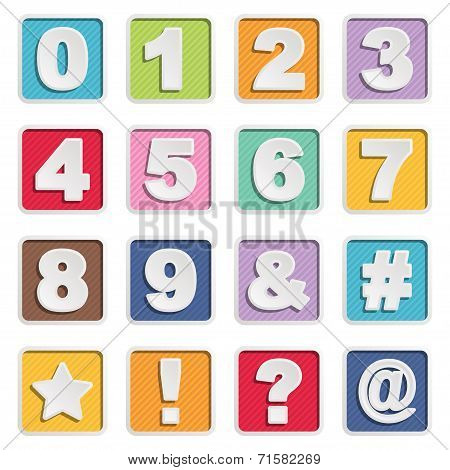 Square Number Icons