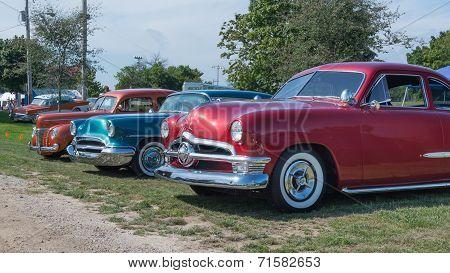 Three Vintage Cars, Frankenmuth Auto Fest