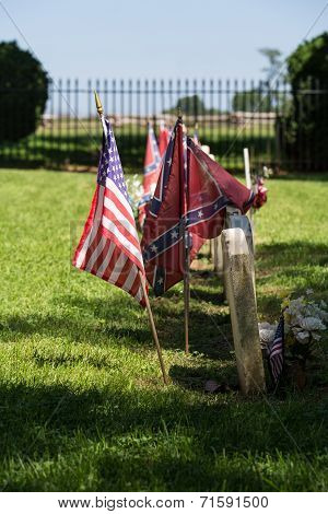 Confederate Cemetery At Appomattox National Park