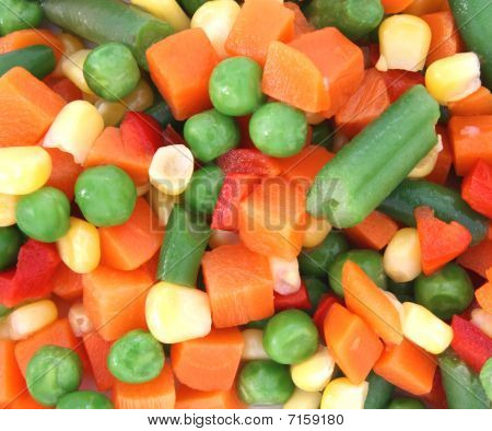 Mix Of Cooked Vegetable On Plate