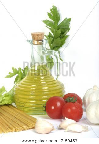 Olive Oil And Spagetti With Vegetables
