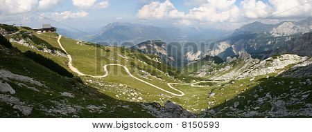Mt. Alpspitze near Garmisch-Partenkirchen in Germany