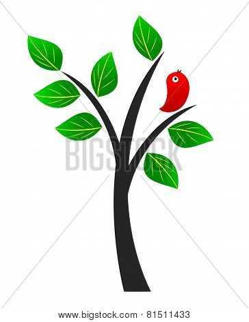 Tree And Bird