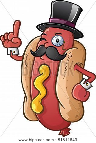Hot Dog Gentleman Cartoon Character