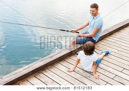 My Father Is The Best In Fishing.