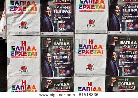 Syriza Campaign Posters