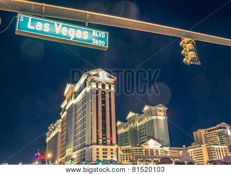 Caesars Palace And Las Vegas Boulevard