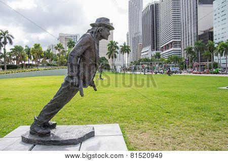 Michael Jackson Statue Inmiami