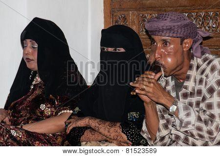 Musician And Dancers In Yemen