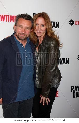 LOS ANGELES - APR 28:  Eddie Marsan, Brooke Smith at the