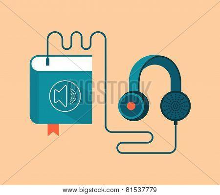 Audio Book Concept Vector Illustration