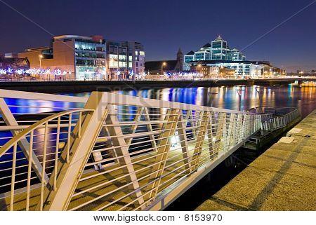 River Liffey By Night