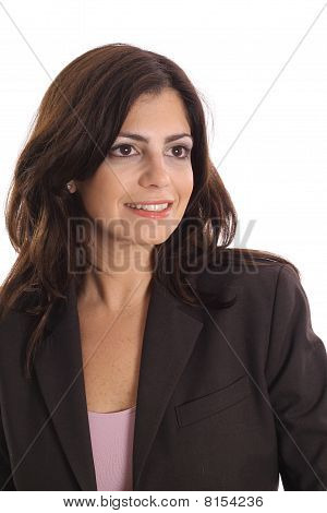 business woman looking off