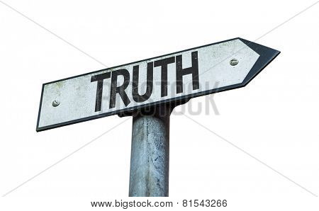Truth sign isolated on white background