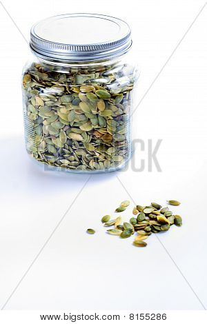 pepitas in a jar