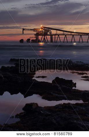 Mining - Blue Metal Gravel Loader At Dawn Bass Point