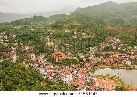 The City Center Of Sapa Village, Lao Cai Provice, Vietnam.