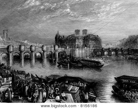 Pont-neuf Bridge Paris