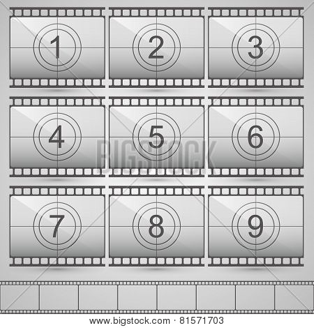 Film countdown numbers