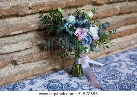 Vintage Bouquet In Blue