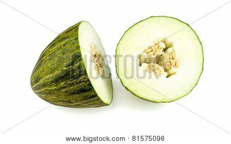 Piel De Sapo Melon, Santa Claus Melon Isolated