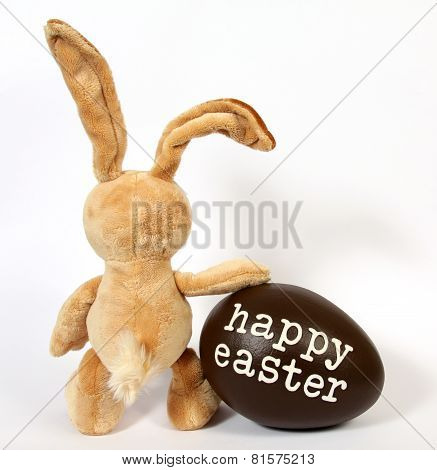 The Easter Bunny with Egg:Happy Easter