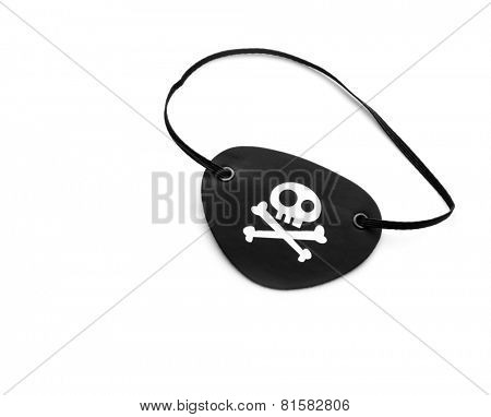Pirate eyepatch on white