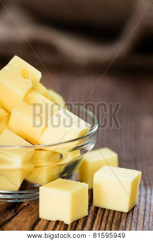 Portion Of Cheese (close-up Shot)