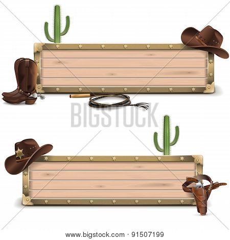 Vector Cowboy Signboards