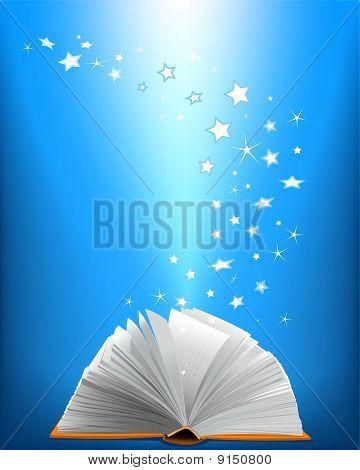 An Opened Magic Book