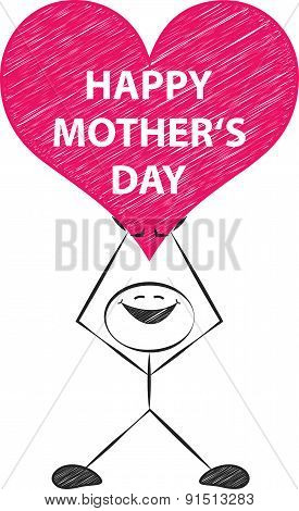 happy mother's day vector doodle