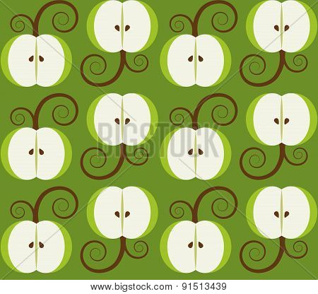 apple background seamless pattern