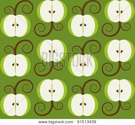 apple background seamless pattern