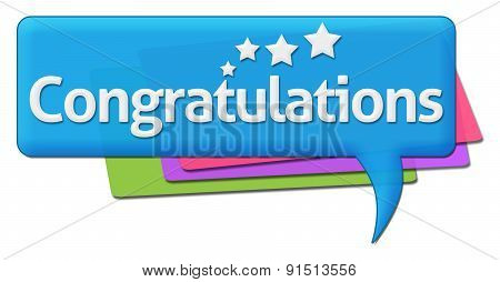 Congratulations With Colorful Comment Symbol