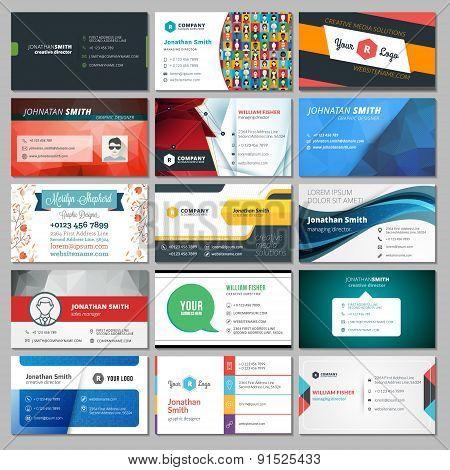 Set Of Modern Creative Business Card Templates