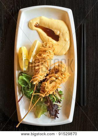 Deep Fried Fish Brochettes