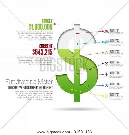Fundraising Meter Infographic