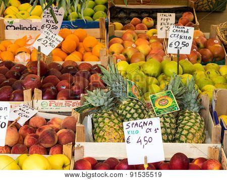 Fruit Display At Market