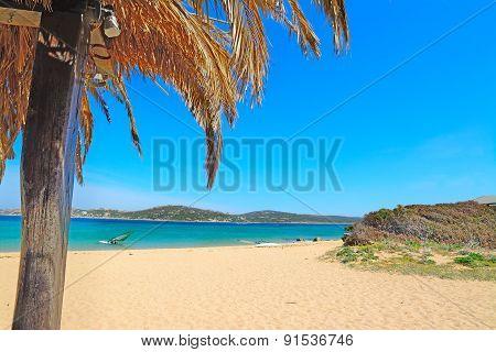 Palm Roof In Porto Pollo Beach