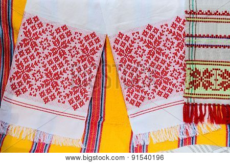 Belorussian Towels With A Traditional Ornament