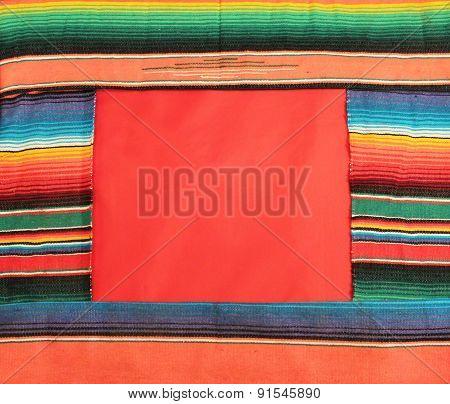 Poncho serape stripe background with copyspace