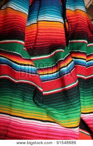 Mexican serape poncho Fiesta bacground