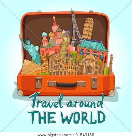 Tourist Suitcase Illustration