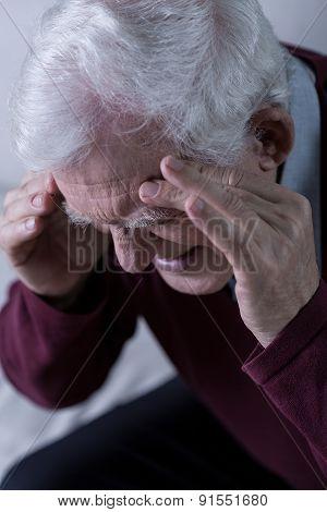 Senior With Headache