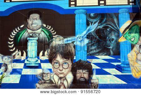 Street art Harry Potter