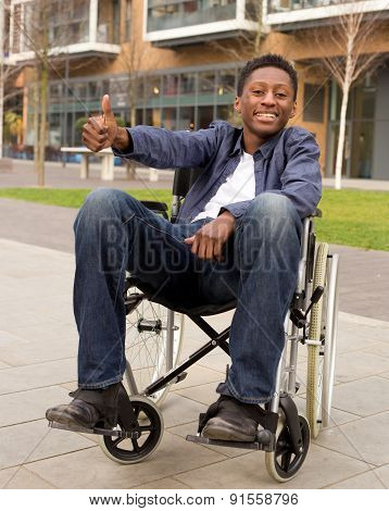 happy disabled boy